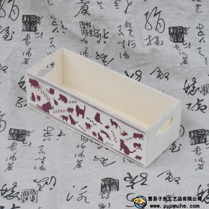 外贸出口猫粮木盒食物盒托盘